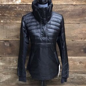 """Lulemon navy """"down for a run pullover"""" size 6 NWT"""